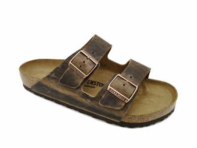 Birkenstock Arizona Tabac Brûlé Marron Vintage Fettleder Sandale normal & étroit | eBay