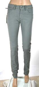 Jeans Pantaloni Donna MET Italy C825 Grigio Gamba Dritta Tg 25 veste grande