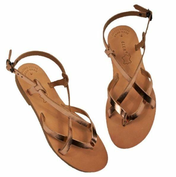Ancient Greek donna donna donna Sandals Gladiator Roman Handmade Genuine Leather scarpe Flat 0b4822