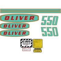 550 Oliver Tractor Complete Decal Set High Quality Lasting Vinyl Decal Kit