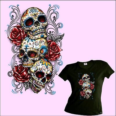 * Damen Tattoo Girl-Shirt Rockabilly mexican style Gothic *1038 oliv