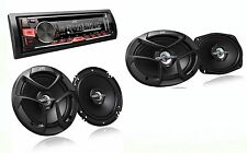 PACKAGE JVC KD-R460 Car Stereo + JVC CS-J620 + JVC CS-J6930 Car Audio Speakers