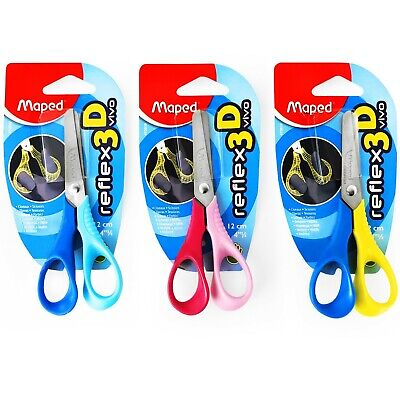 Maped Sensoft Left Handed Scissors 16cm with Flexible Finger Loops in 3 Colours