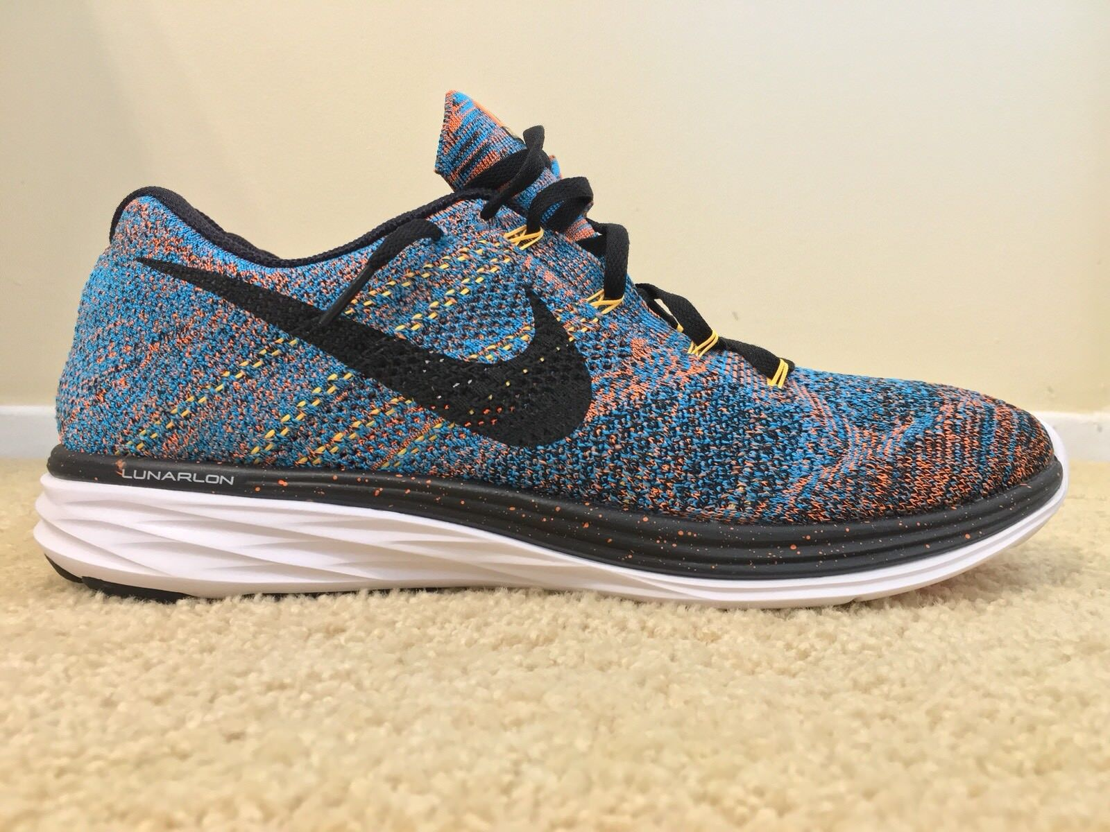 NIKE FLYKNIT LUNAR 3 MULTI COLOR, 698181-801, Men's Running Shoes, Size 13