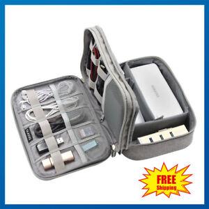Cavo-del-caricabatterie-universale-Organizer-Electronics-Custodia-Telefono-USB-Custodia-da-Borsa