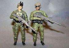 1:18 BBI Elite Force U.S Modern Ranger Machine Gunner Figure Soldier Lot of 2