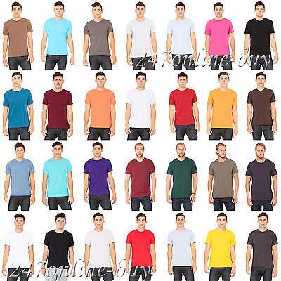 Canvas Mens Short Sleeve Jersey Tee retail fit T shirt 3001-3001C Bella