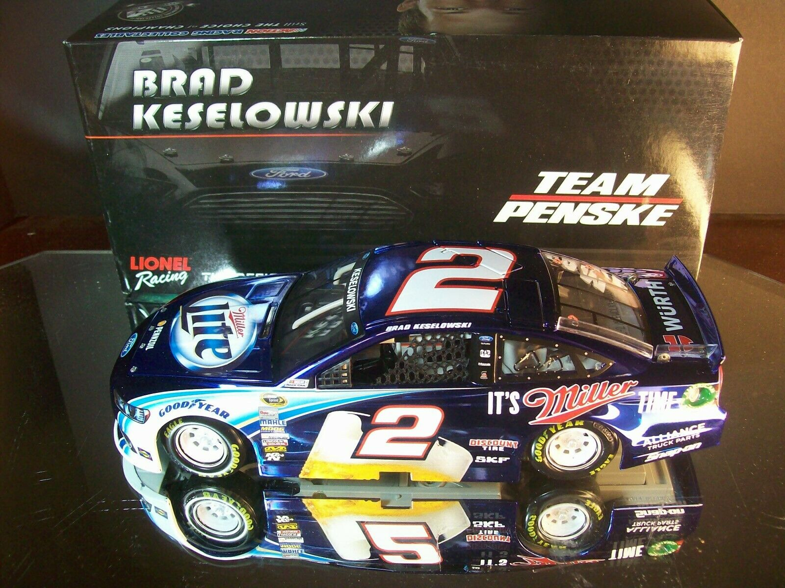 benvenuto a comprare Brad Keselowski  2 Miller Miller Miller Lite Coloreeee Chrome 2014 Ford Fusion 1 of 72 DIN  37  negozio outlet