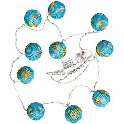 dotcomgiftshop WORLD MAP LIGHTS WITH BRITISH STANDARD 3 PIN PLUG