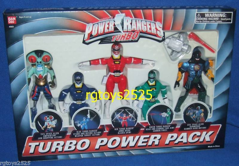 Power Rangers Turbo Hammeron Amphibitor Red bluee Green 5  Factory Sealed 1997
