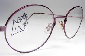 f348fff8477 Image is loading Essilor-Aeroline-Retro-Plum-Red-Marbled-Metal-Eyeglass-