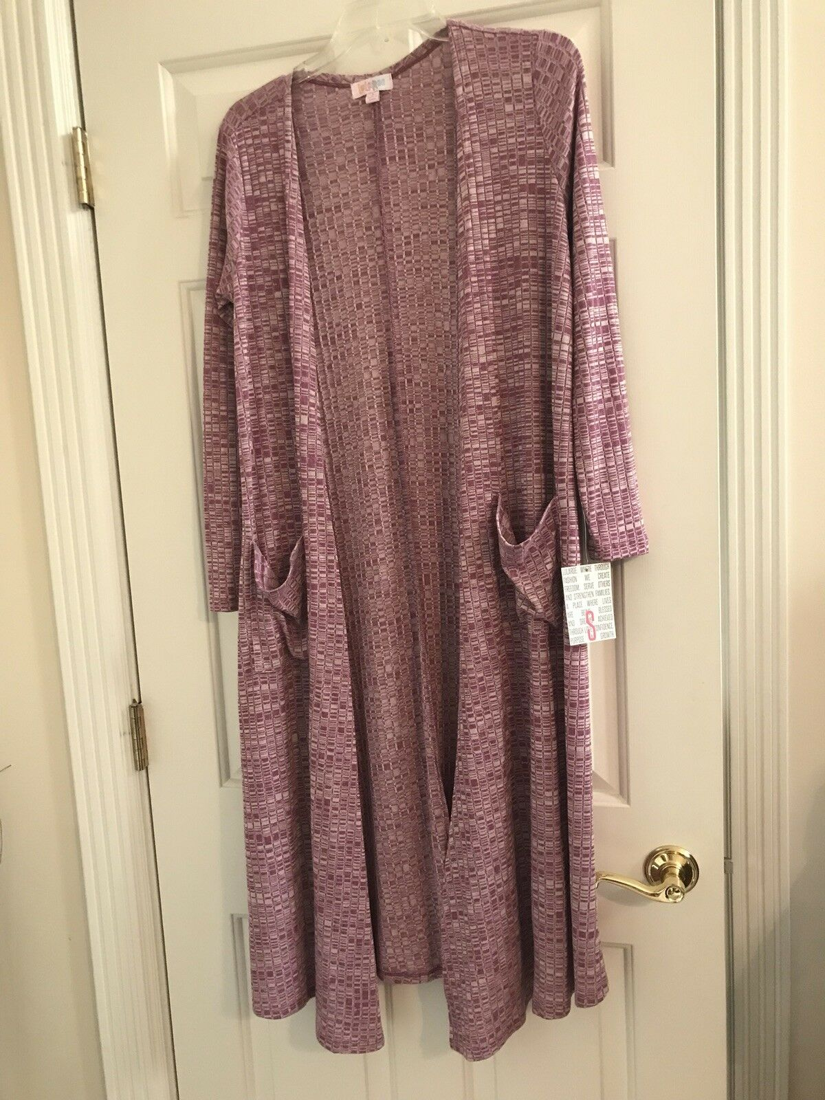 NWT LuLaRoe Small Sarah Duster Cardigan Mauve Pink Purple Stretchy