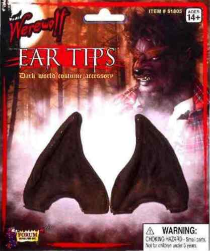 Pointed Ear Tips Elf Werewolf Devil Alien Halloween Costume Accessory 4 COLORS