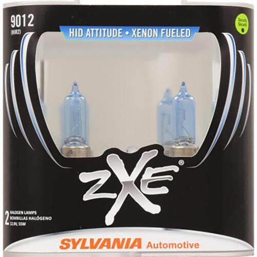 Pair Sylvania SilverStar zXe 9012SZ//2 Headlight//Foglight Bulbs
