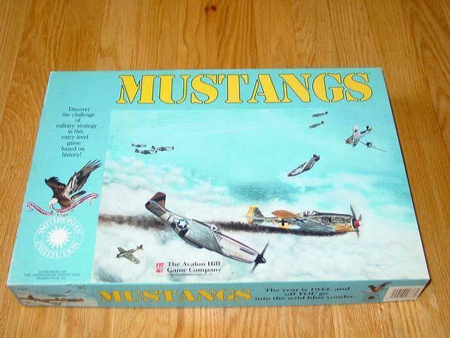 AH Avalon Hill - Smithsonian Edition - MUSTANGS game  Crane Collection (P Punch)