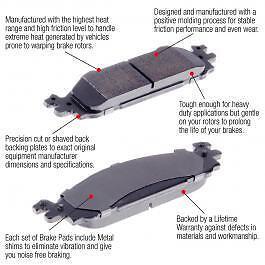 Brake Performance Semi-Metallic Front Brake Pads Fiat 500X 16/'