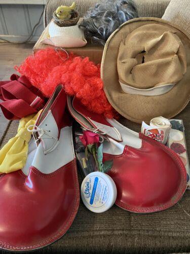 clown costume adult 2 Hats Shoes Paint