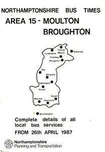 Bus-Timetable-Moulton-Northamptonshire-Apr-1987-Midland-Fox-United-Counties