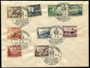 GERMANY-B107-B115-Winter-Relief-International-Craft-Exhibition-Cover-Postage