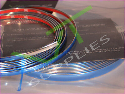 Chrome Styling Moulding Trim Car Strip 3M Adhesive Tape 6mm 10mm 20mm 30mm