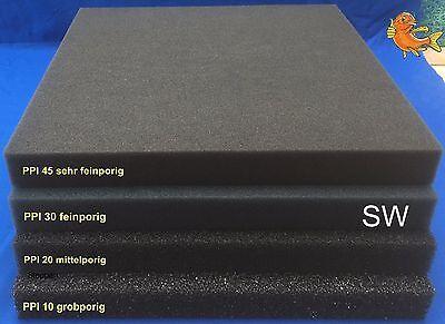 verschiedene Stärken /& Größen PPI 45 Filtermatte Filterschwamm Filterschaum