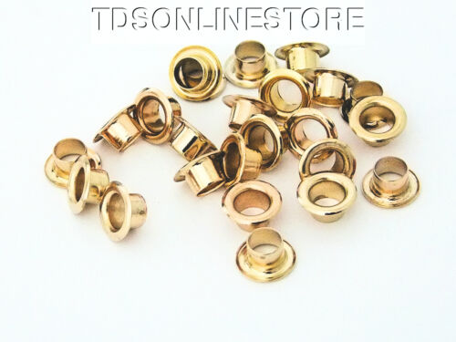 1//4 Inch Diameter Brass Plated Eyelets Package of 24