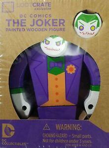 2-Set-Lot-Official-DC-Comics-Collectibles-Batman-The-Joker-Painted-Wood-Figure