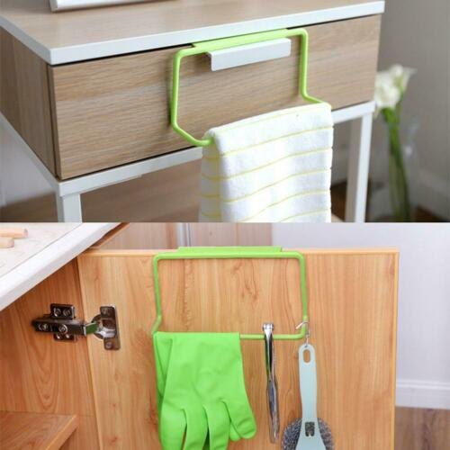 Green Towel Rack Hanging Holder Kitchen Cabinet Bathroom Towel Rack Tool