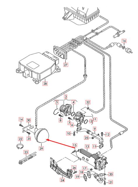 Audi A3 2 0 Tdi Vacuum Reservoir 7m0129808 8p 2010 For Sale Online