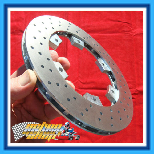 GO KART BRAKE DISC 200MM x 18MM THICK VENTED CROSS DRILLED FREE DELIVERY