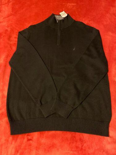 1 Black maglione Nwt Nautica Zip Men's taglia 4 Large AqxtxC1