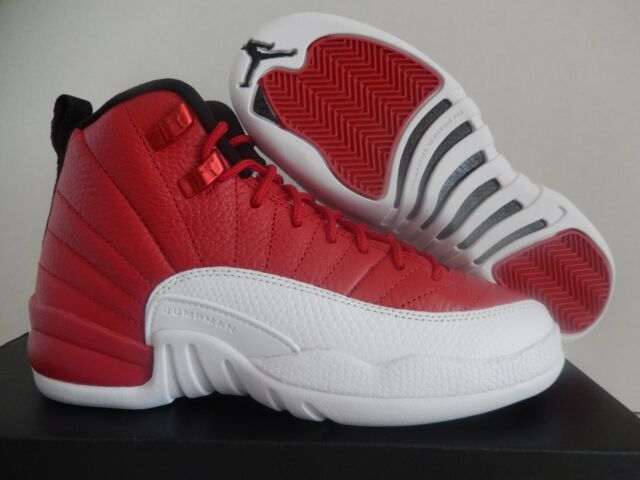 purchase cheap 32aa3 4094a Nike Air Jordan 12 Retro GS Gym Red White Youth 153265-600 Size 4y 4