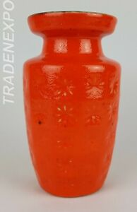 Vintage-1960-1970-SCHEURICH-KERAMIK-034-PRISMA-034-Vase-West-German-Pottery-Fat-Lava