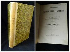 L'universo Storia della natura – F. A. Pouchet Tradotta da Michele Lessona 1869