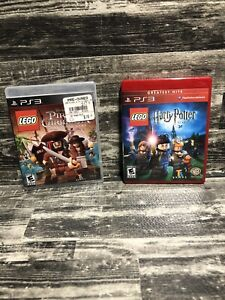 Lego PS3 Harry Potter & Pirates of the Caribbean Lot of 2 video games
