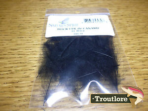 NATURES-SPIRIT-BLACK-CUL-DE-CANARD-CDC-NEW-FLY-TYING-FEATHERS