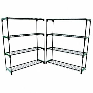 NEW-Double-Pack-Flower-Staging-Display-Greenhouse-Racking-Shelving