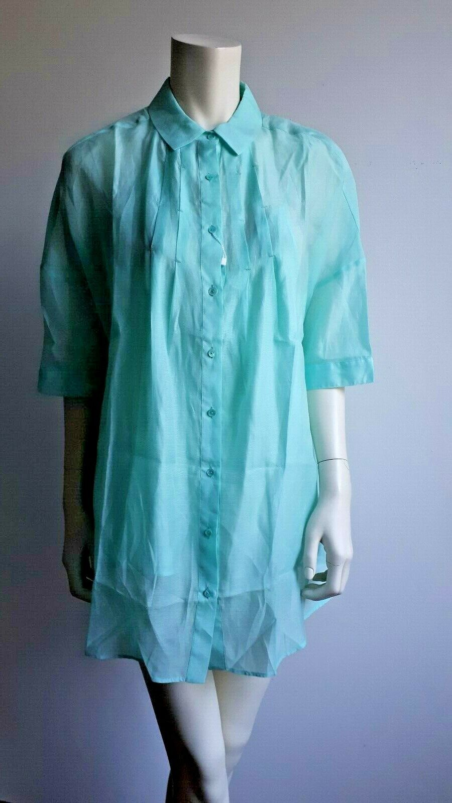 MARINA RINALDI Silk&Cotton Blend Blouse PLUS Größe MR 23_USA W14_I 52_D 44_ 48F