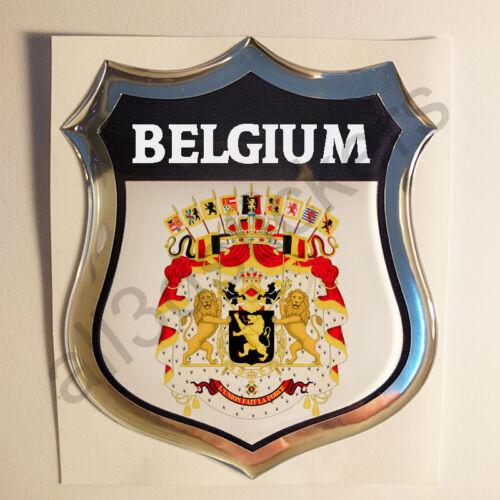 Aufkleber Wappen Belgien 3D Kfz-Aufkleber Belgien Emblem Motorrad Auto Domed