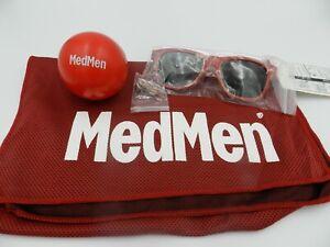 Medmen-Cooling-Towel-Sunglasses-Stress-Ball-Lapel-Pin-Retail-Swag-Cannabis-Lot