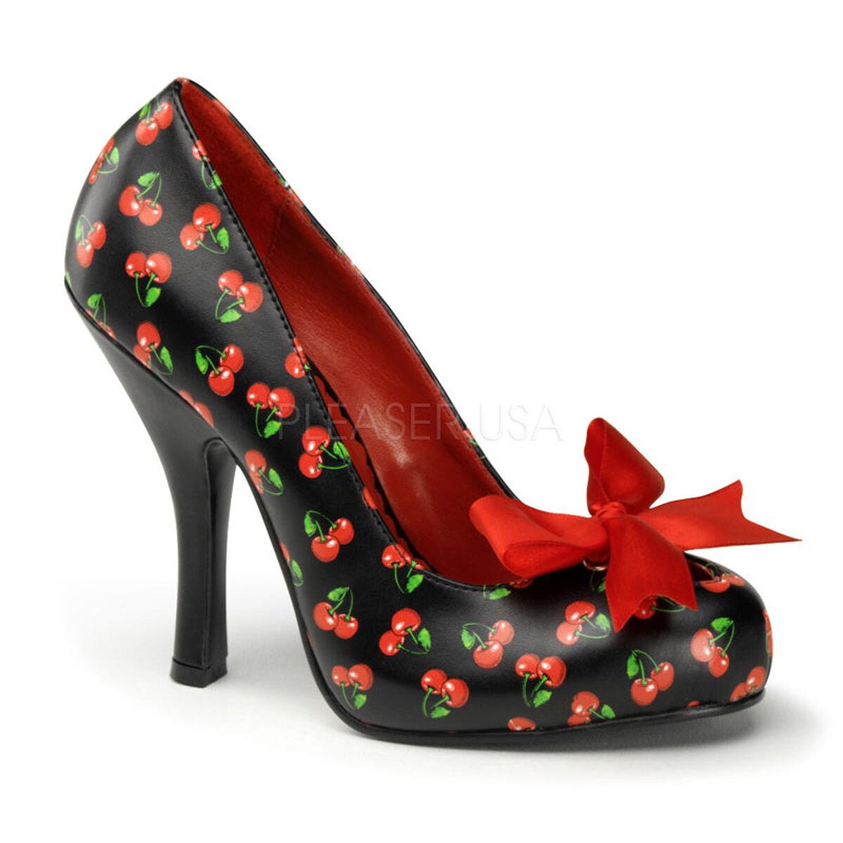 Pin Up Cherry por Pleasercutiepie06 Vintage Estilo zapatos  Tenis Cherry Up Cheetah Y Arco 956b40