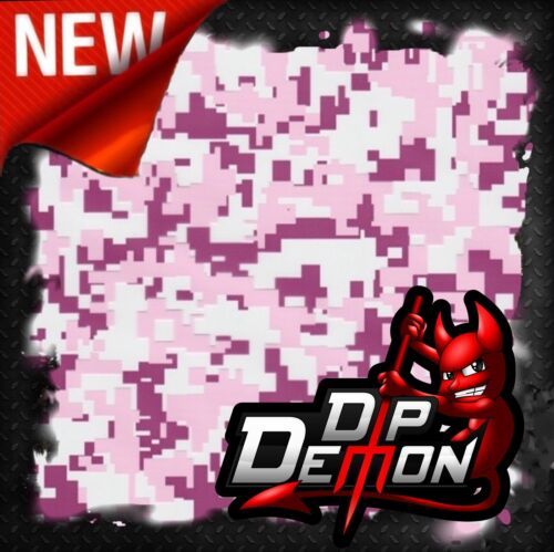 HOT PINK DIGITAL CAMOUFLAGE CAMO HYDROGRAPHIC WATER TRANSFER FILM HYDRO DIPPING