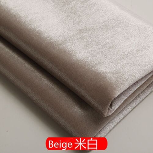 1M Velvet Fabric Upholstery Cushion Curtain Tablecloth Sofa Craft Material Ivory