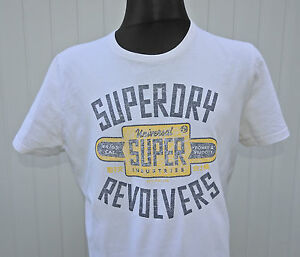Superdry-Vintage-Men-039-s-White-T-Shirt-Limited-Edition-Short-Sleeve-Size-XL