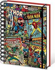 Oficial Marvel 3d Lenticular Bloc De Notas Notebook Jotter A5 Regalo Thor Iron Man