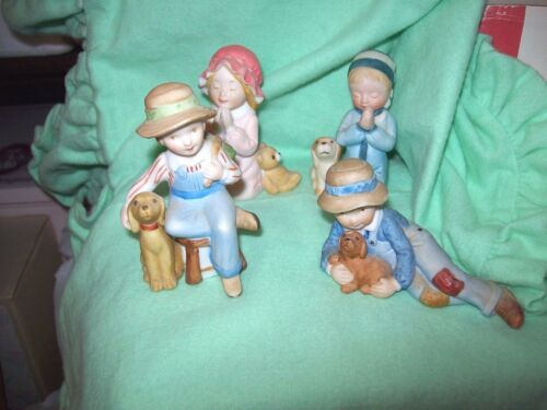 LOT OF 4 PORCELAIN HOLLY HOBBIE FIGURINES