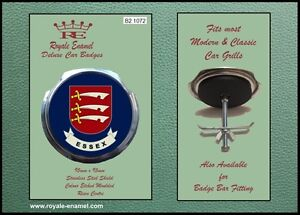 Royale Classic Car Grill Badge + Fittings - COUNTY of  ESSEX ENGLAND B2.1072
