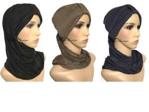 Instant-hijab-Turban-hats-underscarf-cap-lovely-stretchy-jersey-material