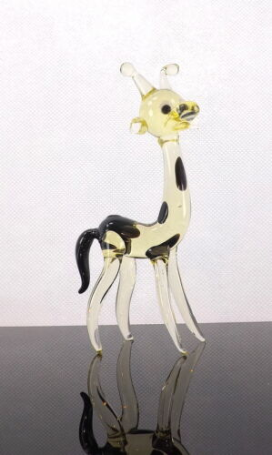Giraffe Wild Animal Collectable Glass Figurine Gift For Grandfather Father Boy