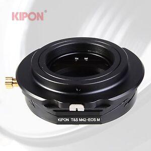 kipon tilt shift adapter for m42 lens to canon eos m ef m